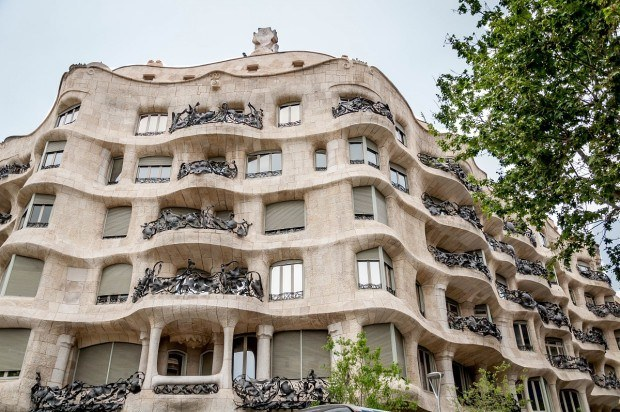 One of Gaudi's most famous works, the Casa Mila/La Padrera in Barcelona.