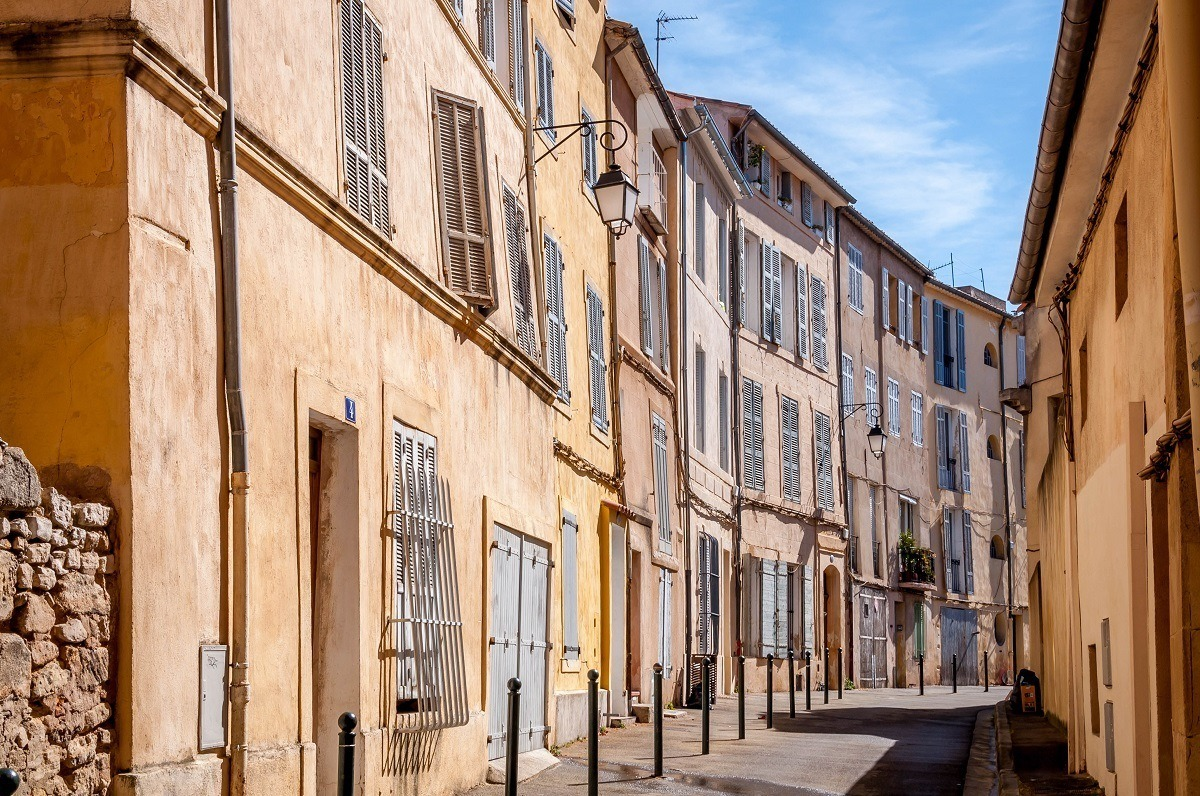 The quaint streets of Provence