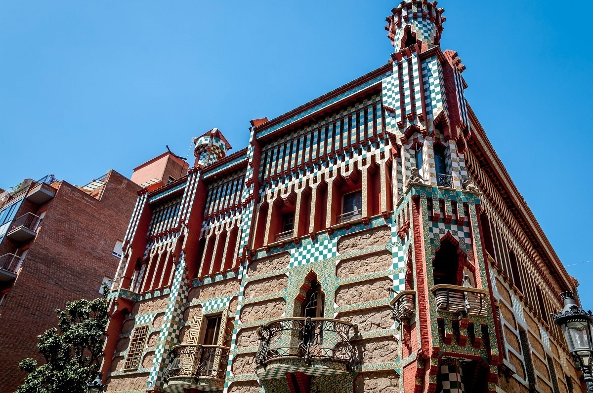 One of earliest works by Antoni Gaudi in Barcelona is the private home of Casa Vicens.