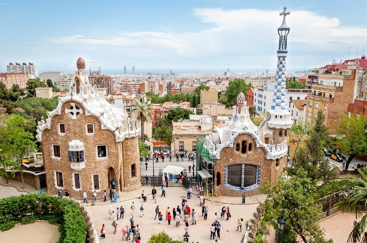The Park Guell Monument Zone in Barcelona.