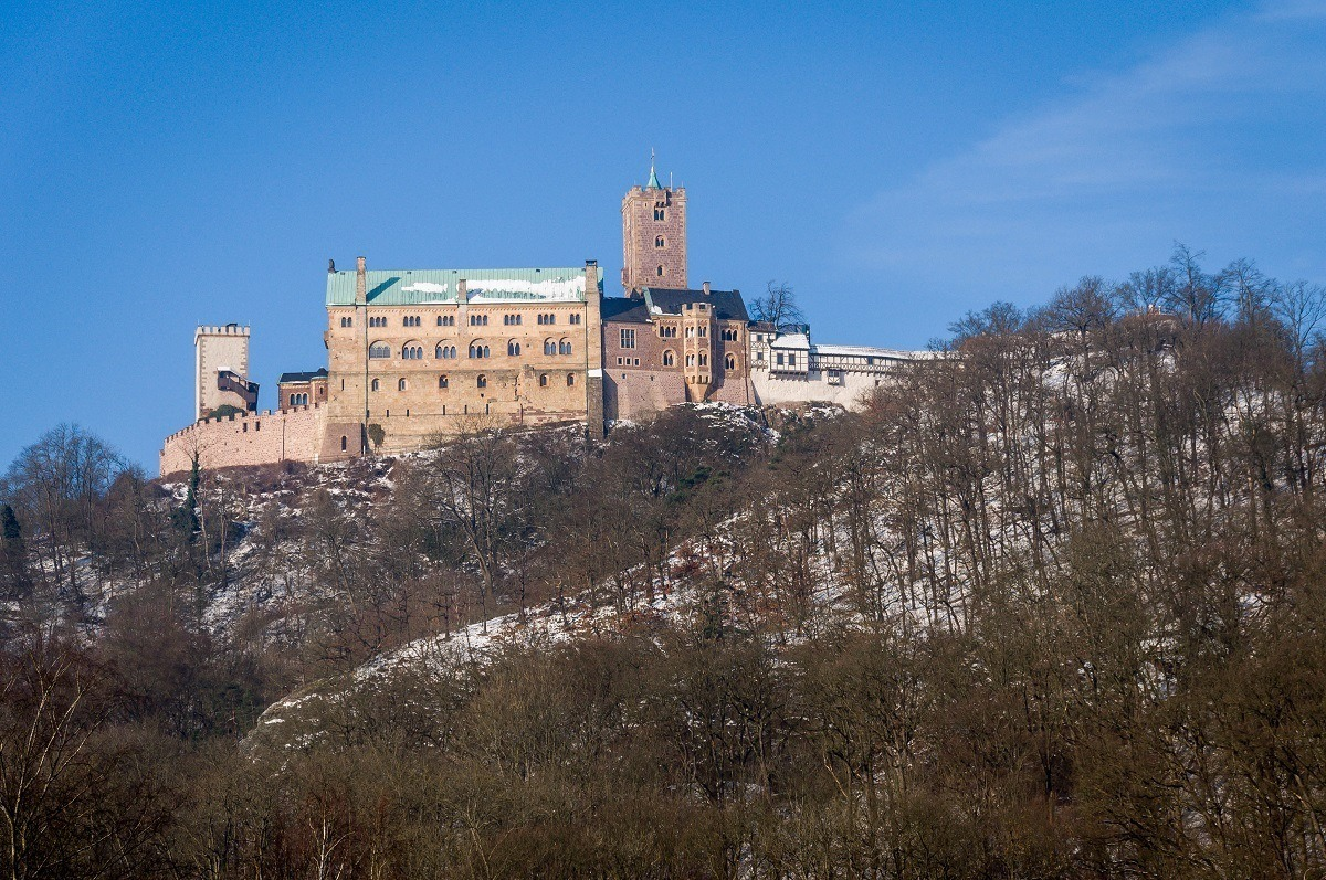 The Wartburg Castle in Eisenach where Martin Luther took refuge