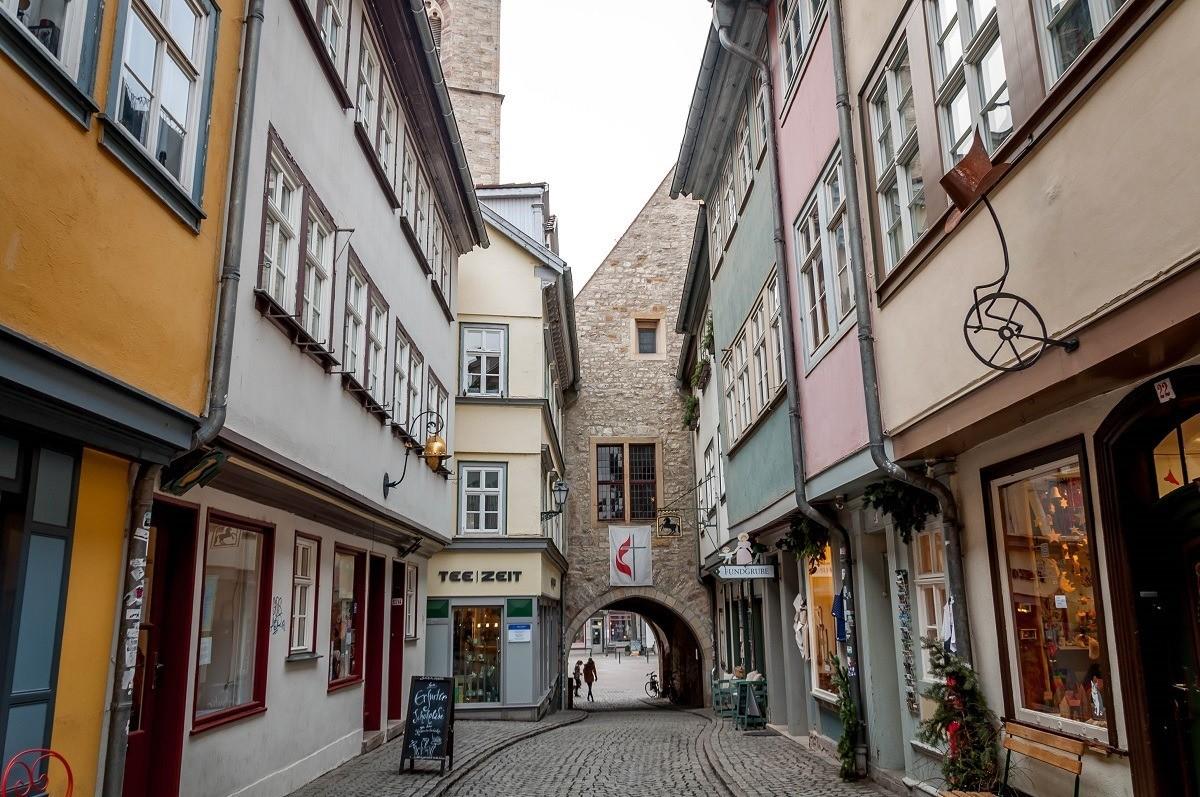 The Merchant's Bridge in Erfurt