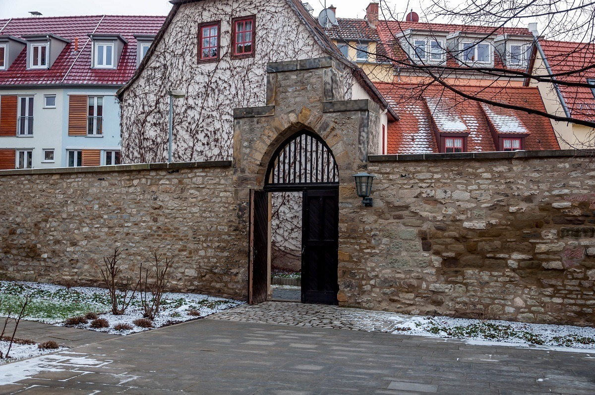 The black gate of the Augustinian Monastery
