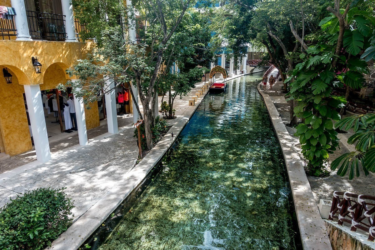 A River Runs Through The Lobby Of Occidental Xcaret Riviera Maya In Mexico