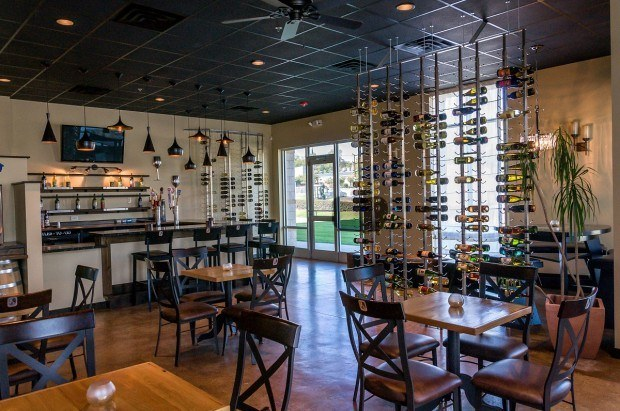 The laid-back tasting room at CV&H showcases the finest North Carolina beer and wine