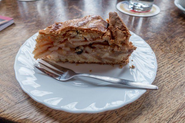 Dutch apple pie is one of the fabulous things to try on an Eating Amsterdam food tour in the Jordaan neighborhood