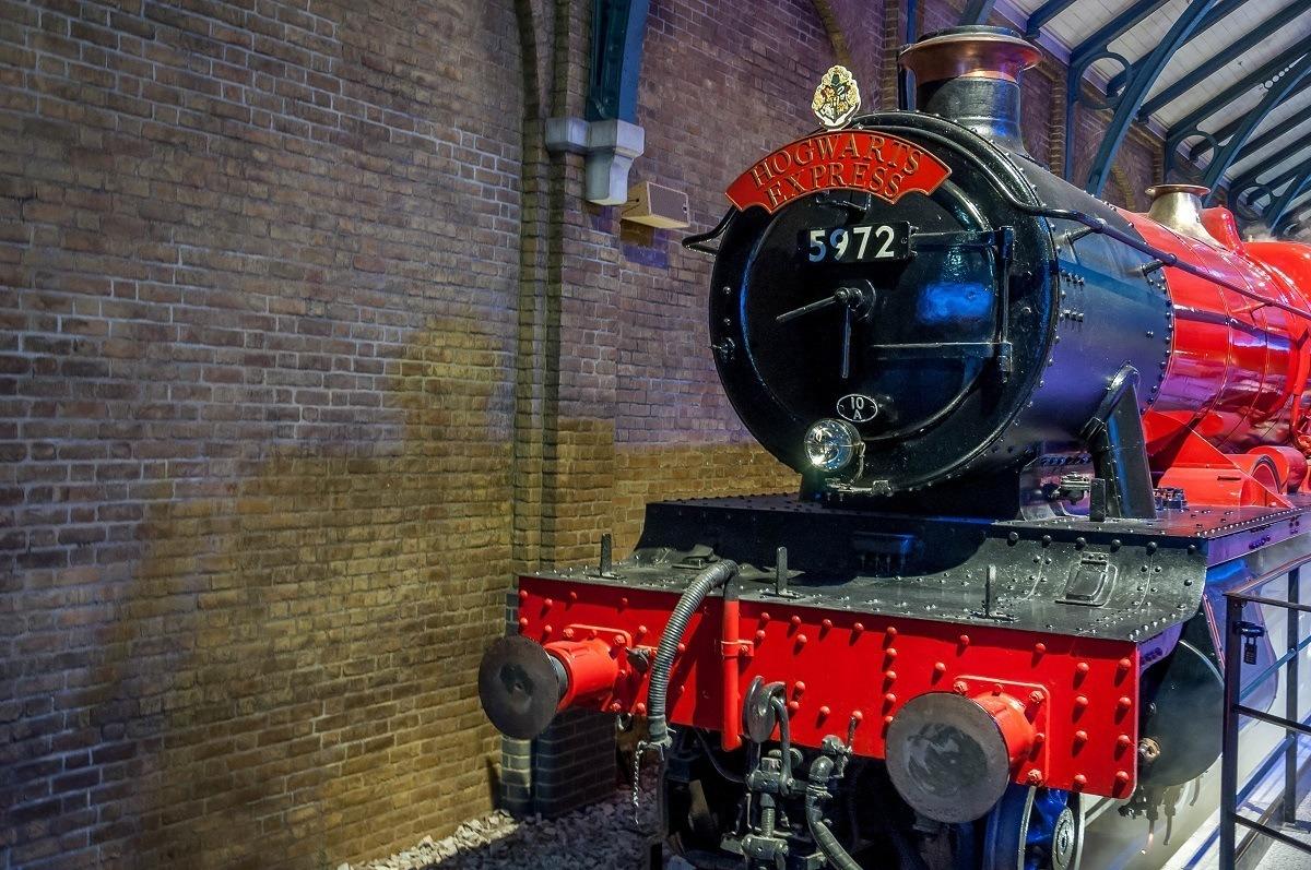 The Hogwarts Express Train on the Harry Potter Studio Tour.