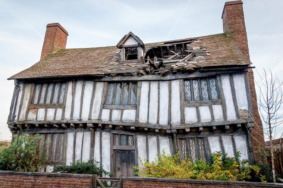 The Potter Home in Godric's Hollow on the Warner Bros. back lot.