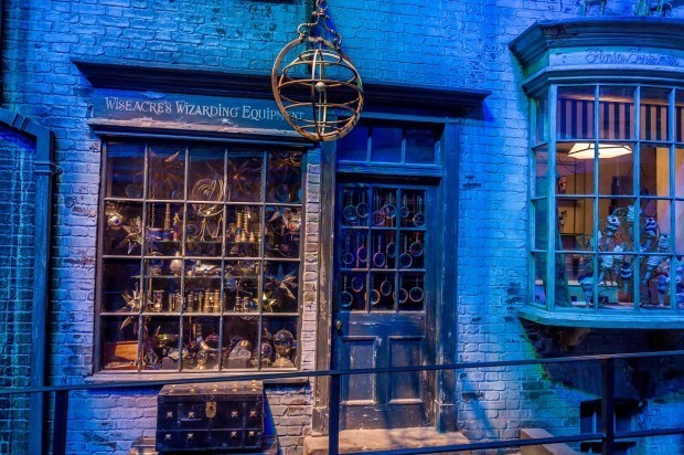 One of the stores in Diagon Alley.