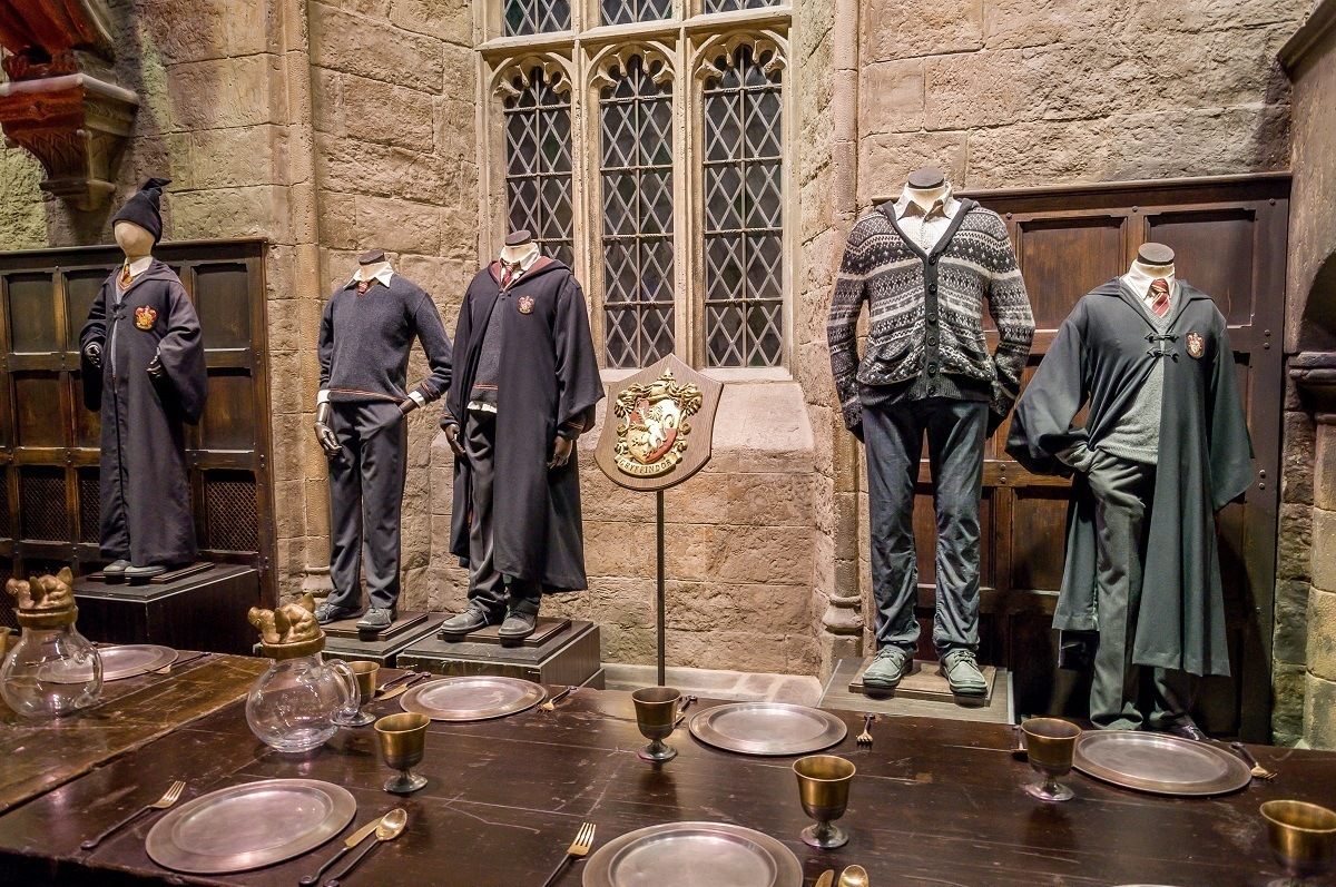 The costumes worn by Harry Potter, Neville Longbottom and others.