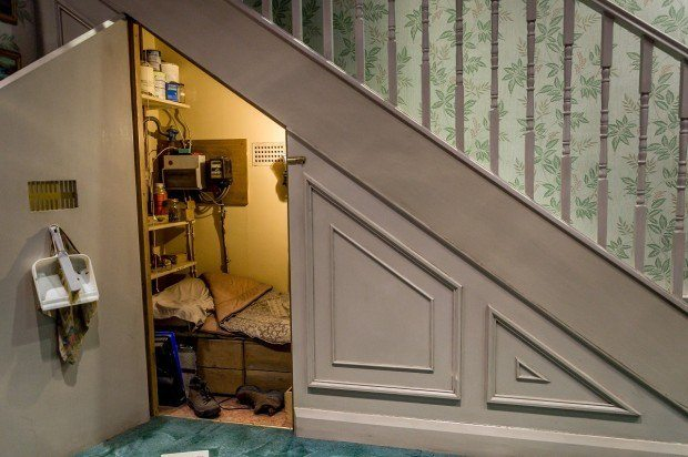 Where Harry Potter got his start: the cupboard under the stairs on Privet Drive.
