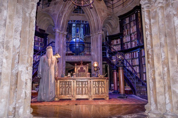 The set for Dumbledore's office on the Harry Potter tour.
