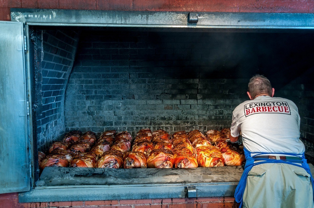 Lexington Barbecue in Lexington, North Carolina, makes a distinctive style of barbecue perfected over 100 years