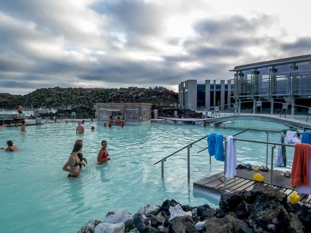 One of the top Iceland attractions is a dip into the Blue Lagoon thermal pool.