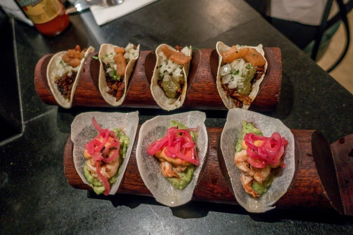 The tacos at Bodega Negra in Soho.