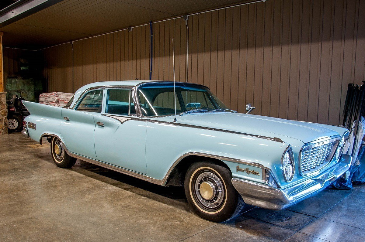 Light blue 1961 Chrysler
