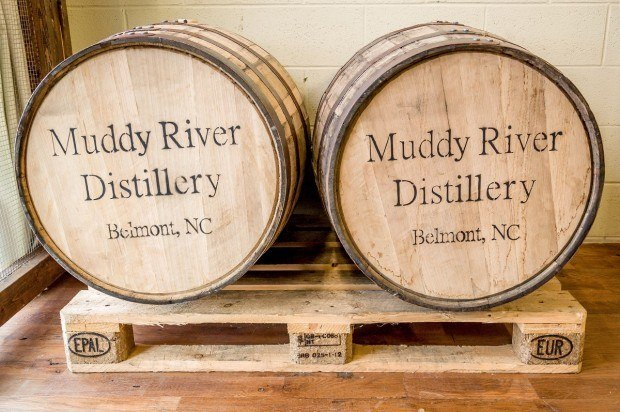 Rum aging at Muddy River Distillery. Today, there are over 20 legal North Carolina distilleries.