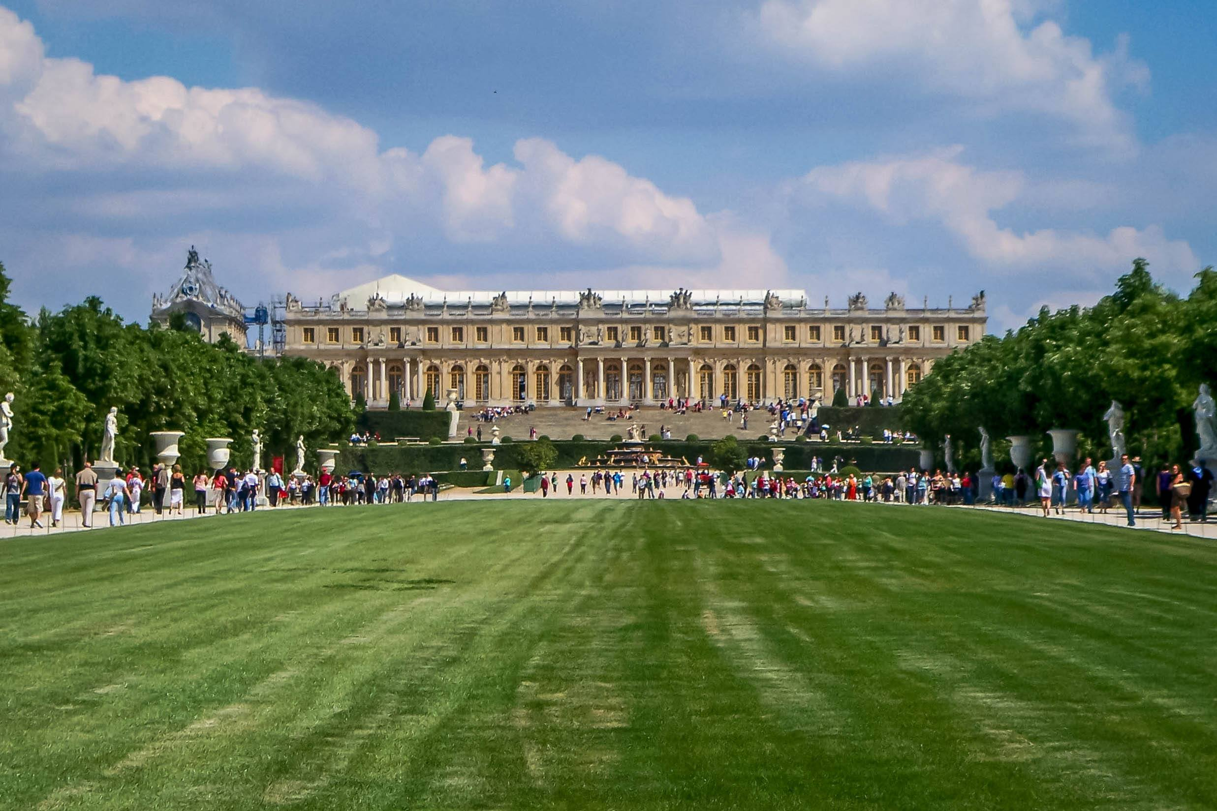 The Palace of Versailles in France -- one of the most spectacular palaces in Europe