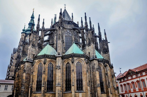St. Vitus Cathedral is one part of the Prague Castle complex in the Czech Republic. It is one of the oldest palaces in Europe.