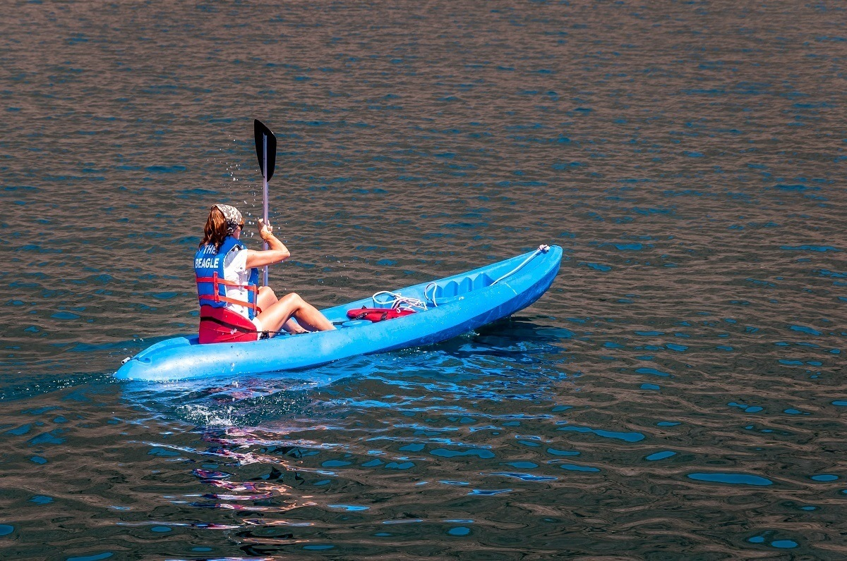 On many Galapagos cruise boats, you can do optional sea kayaking.