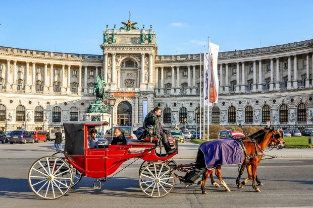 Hofburg Palace in Vienna, Austria, is one of the prettiest palaces in Europe