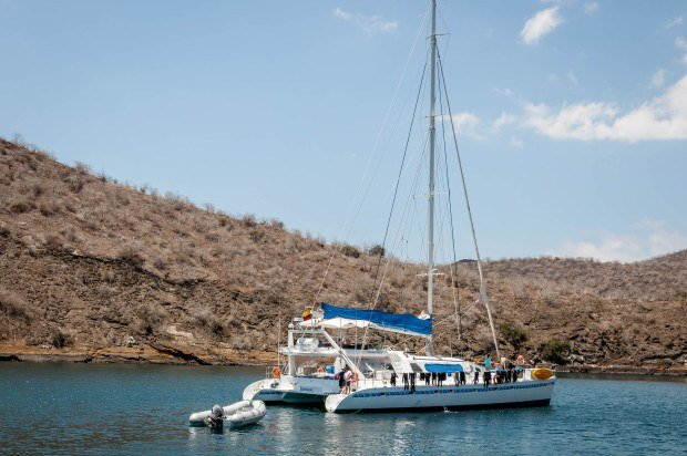 Catamaran boats offer more stability while cruising in the Galapagos. These can be good choices for people who may suffer from motion sickness.