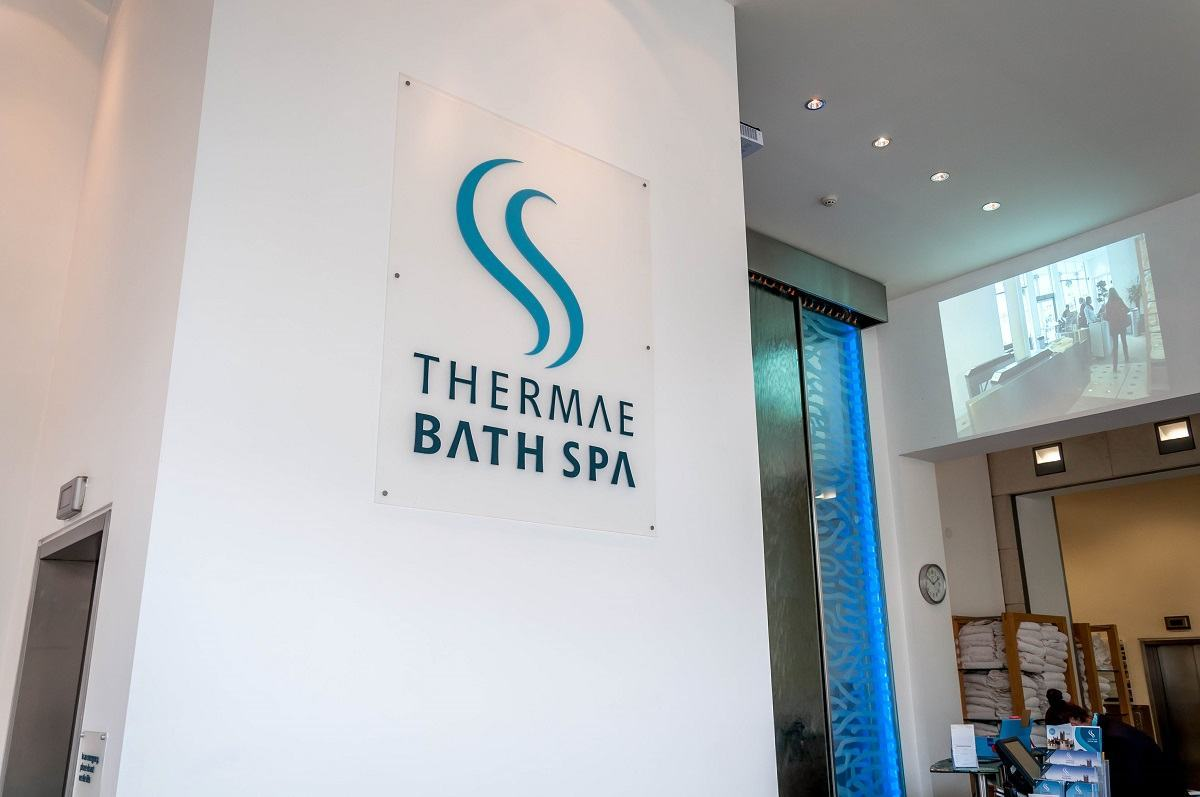 The Thermae Bath Spa in England.