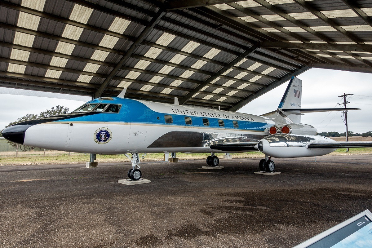 Air Force One-Half flew LBJ between Washington and Texas