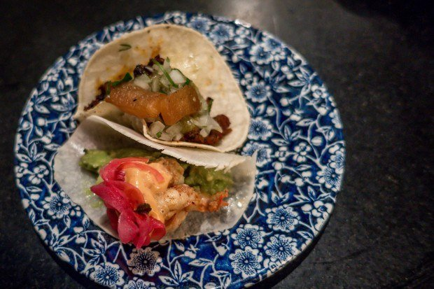 A final taco for the road during our London food tours.