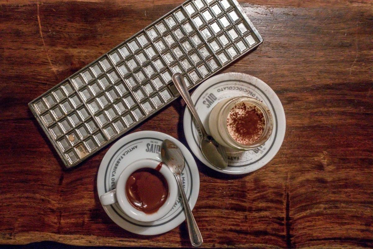 The hot chocolate and tiramisu at Said in London.
