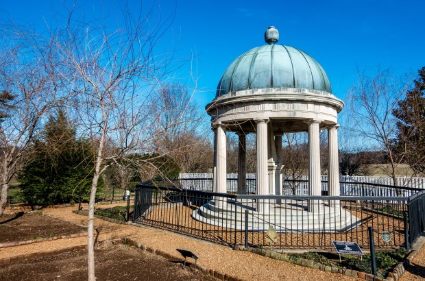 Andrew and Rachel Jackson's grave at the Heritage outside Nashville. The Hermitage is the most historically accurate of the first presidents homes.