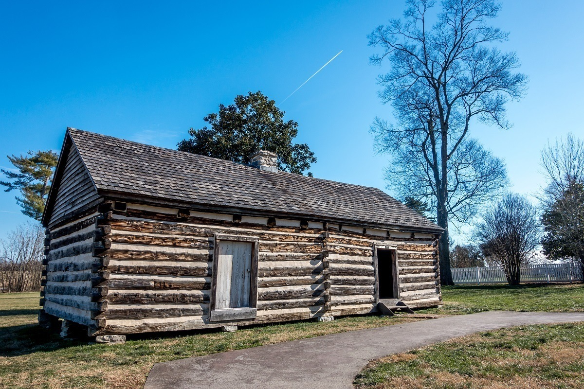 The cabin of Alfred Jackson, a slave at the Hermitage who stayed on to work after Emancipation (and ultimately became a tour guide).