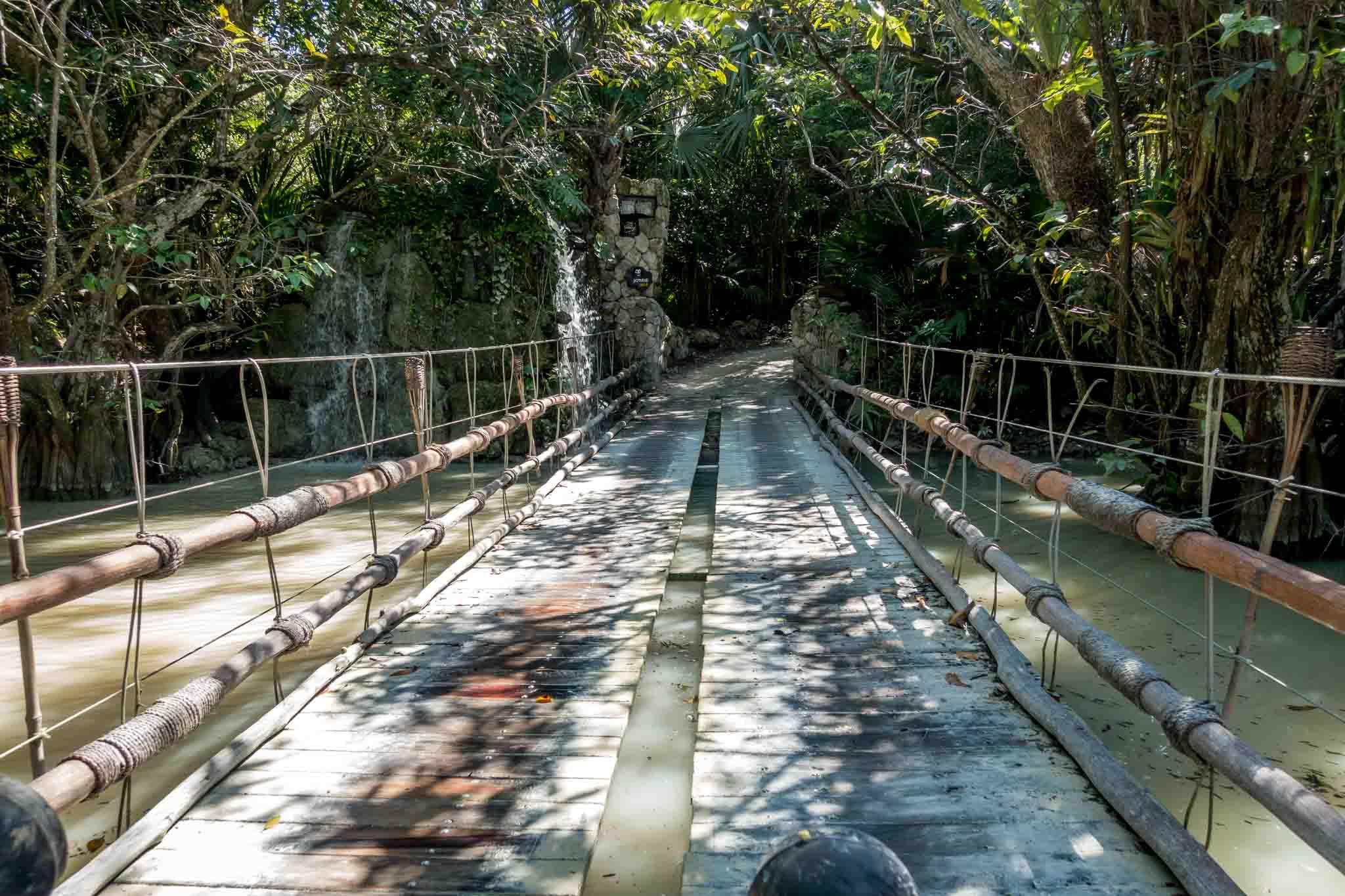 Bridge across very high water