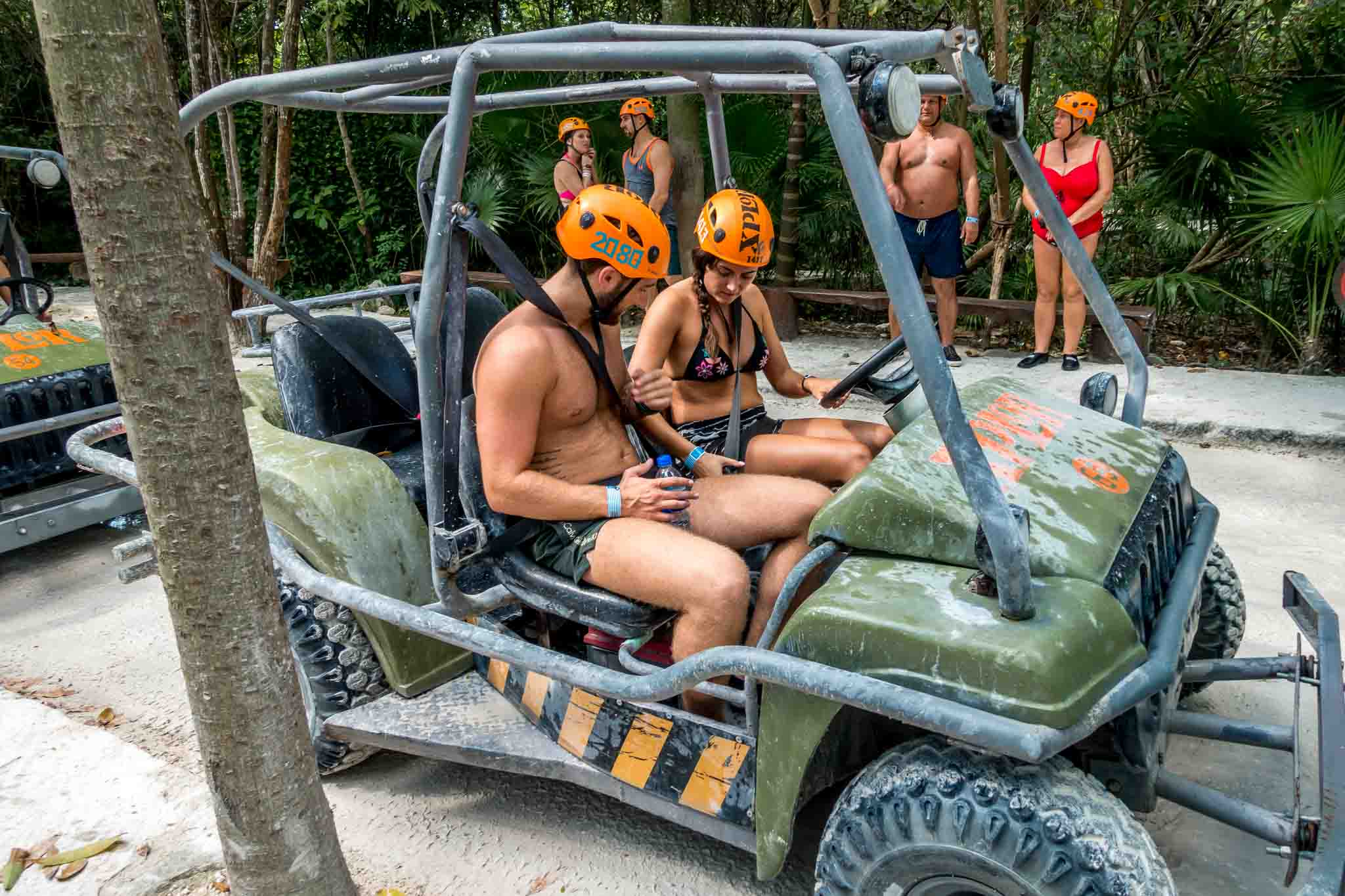 Riding in amphibious vehicles is one of the popular activities at Xplor Playa del Carmen, Mexico