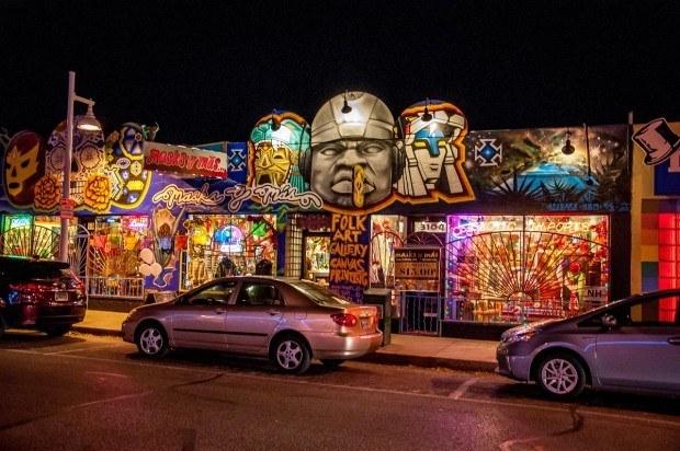 Exploring the funky Nob Hill neighborhood in Albuquerque.