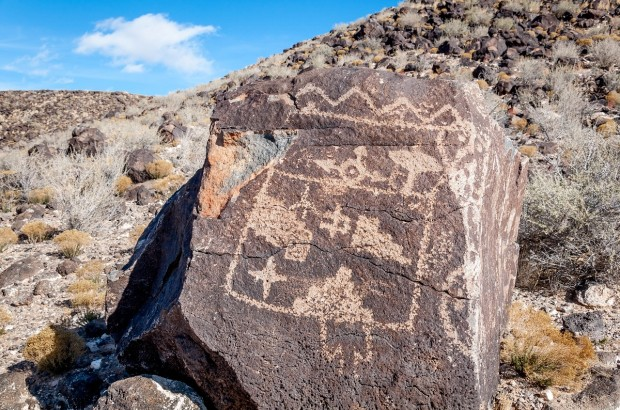 Petroglyph National Monument in Albuquerque, New Mexico, is home to 24,000 petroglyphs created by the Ancient Puebloans from 1300 to 1650.