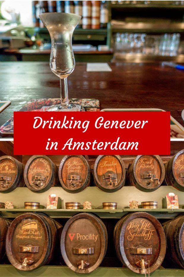 Drinking Genever in Amsterdam