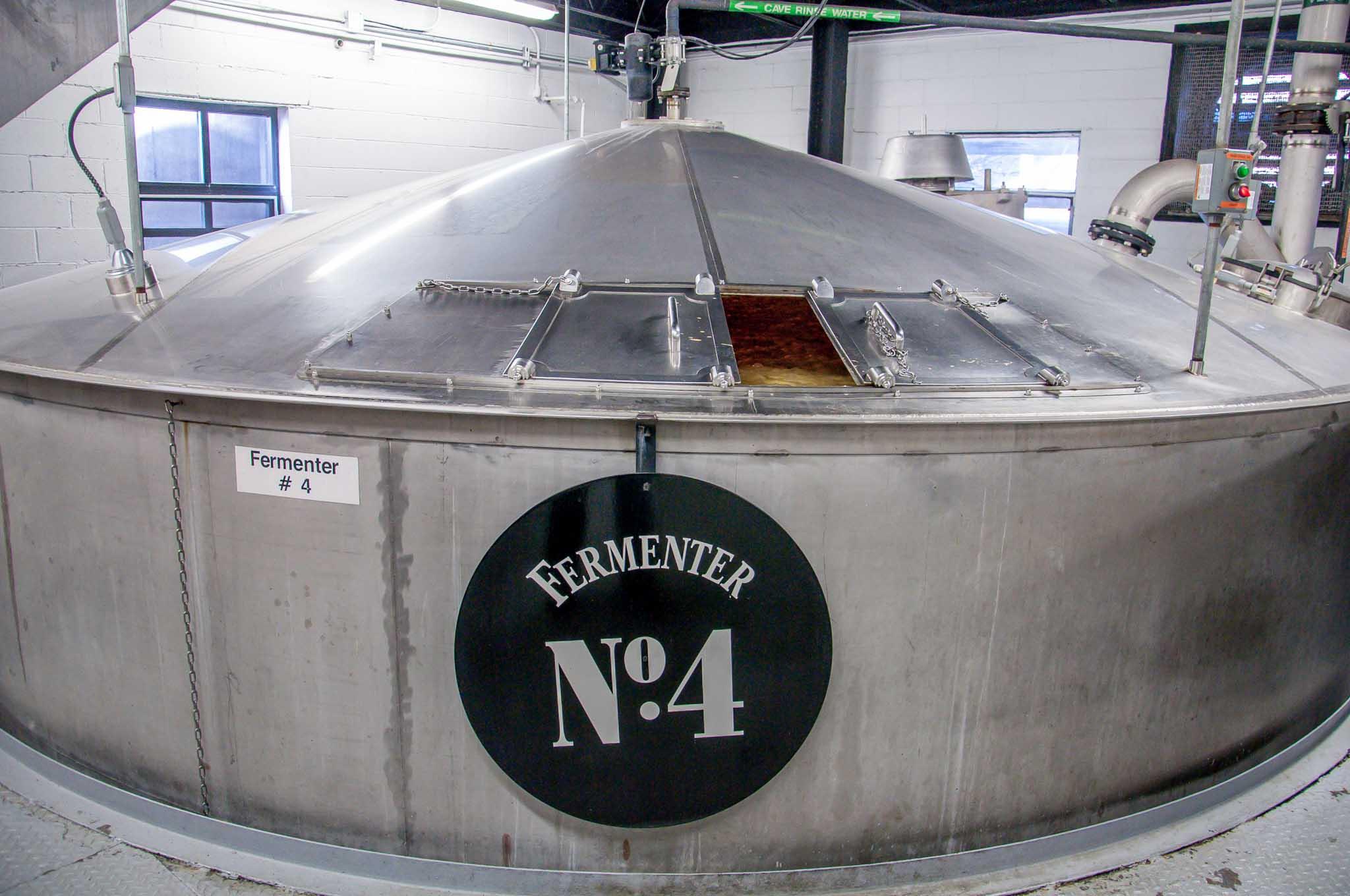 One of the fermentation tanks at Jack Daniels Lynchburg