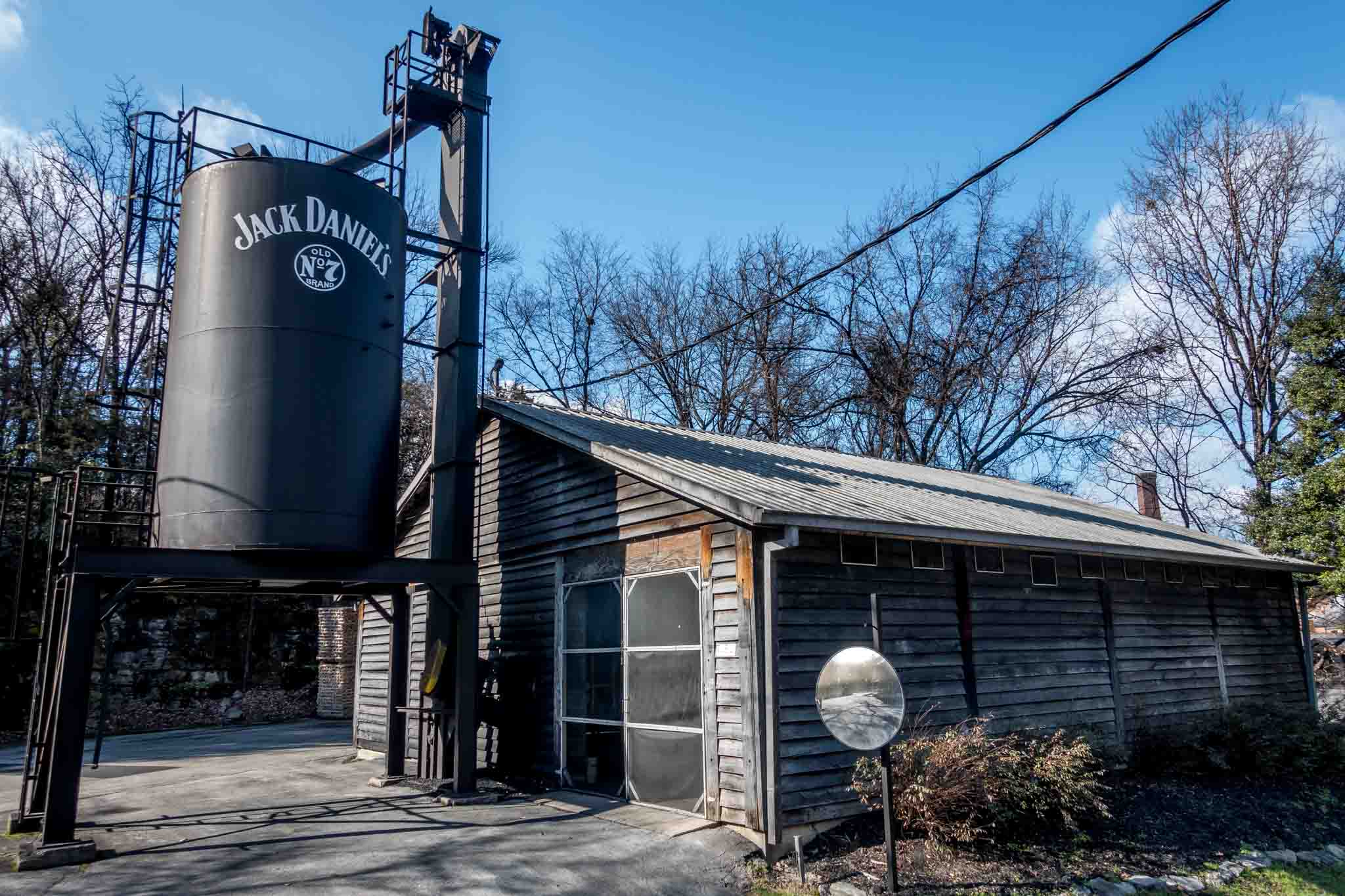 One of the buildings at the massive Jack Daniels distillery in Lynchburg TN