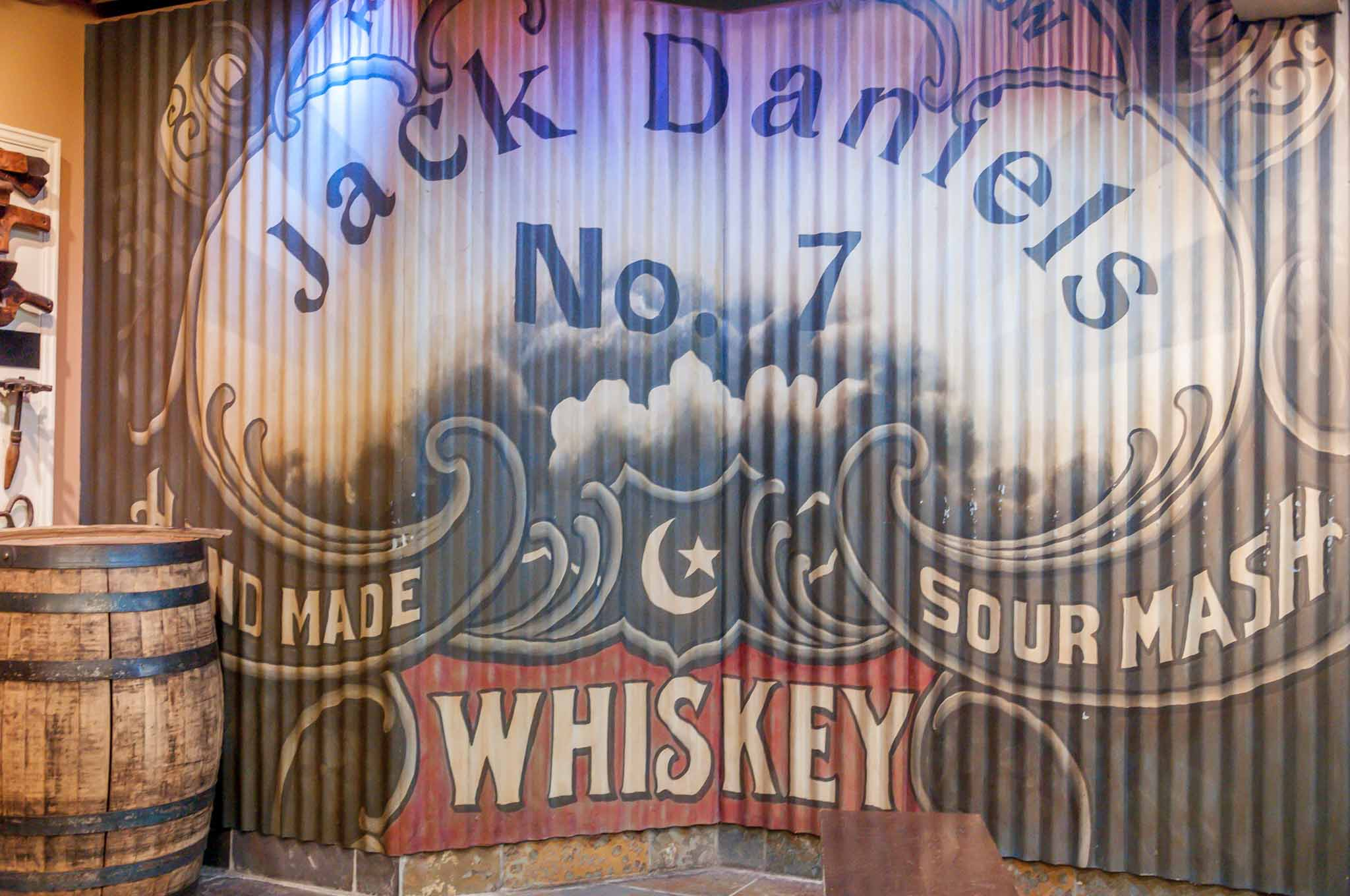 Jack Daniel's No. 7 Whiskey sign at the Jack Daniel's distillery