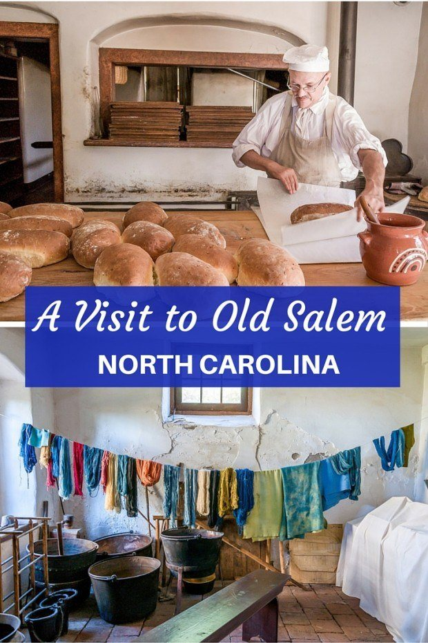 Throughout Old Salem in North Carolina, skilled craftsmen and interpreters live and work as though they were Moravian settlers in the late 1700s.