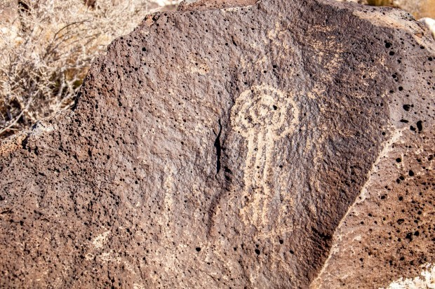 Petroglyph National Monument in Albuquerque, New Mexico, is home to 24,000 petroglyphs created by the Ancient Puebloans from 1300 to 1650. The meanings are unknown.