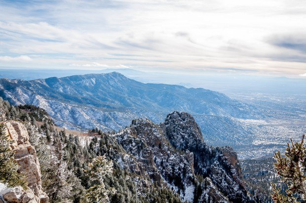 View of city from the top of Sandia Peak, one of the top things to do in Albuquerque.