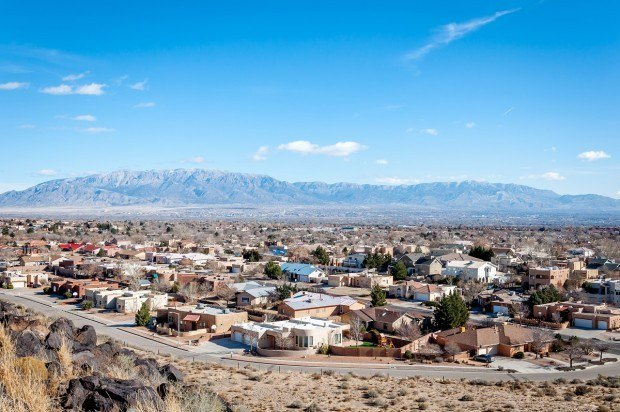 Suburban Albuquerque as seen from one of the hills in Petroglyph National Monument