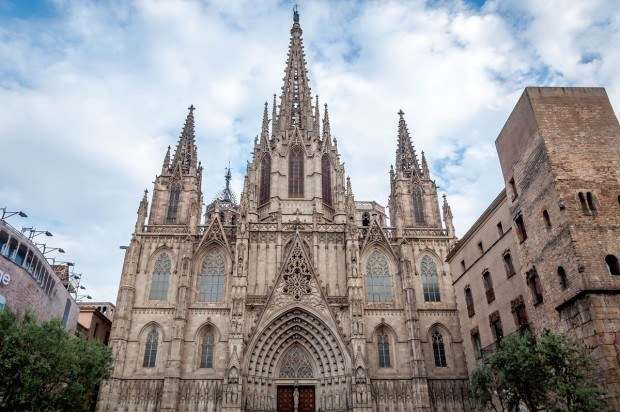 The neo-Gothic Barcelona Cathedral in Spain