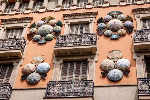 Casa Bruno Cuadros along Barcelona's La Rambla was an umbrella shop in the 1880s
