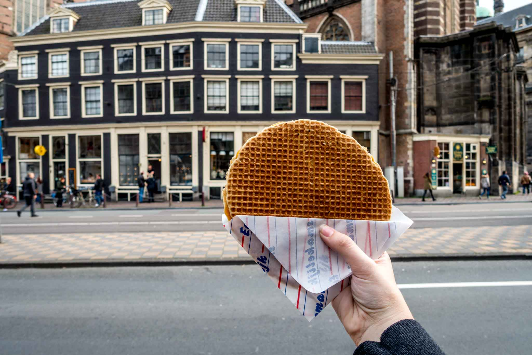 Stroopwafel (aka Dutch waffles) are great Dutch snacks to try in Amsterdam