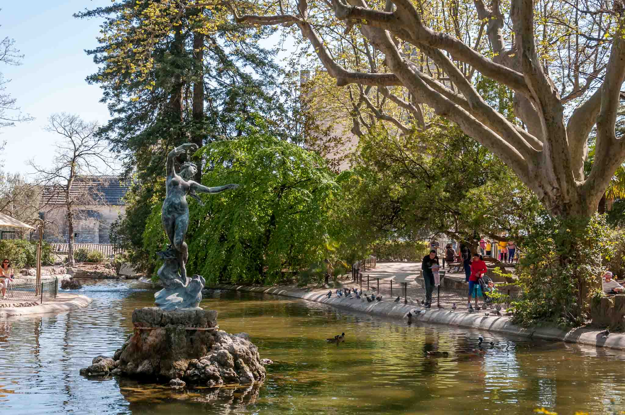 Fountain and pond at Parc Rocher des Doms in Avignon, a stop on a 10-day itinerary in the South of France