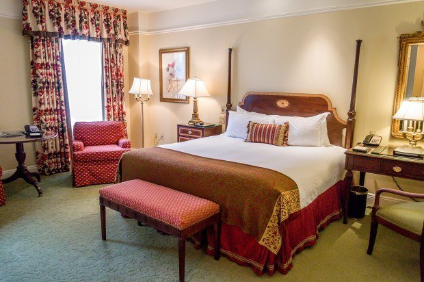 The Deluxe King Room at The Hermitage Hotel Nashville.
