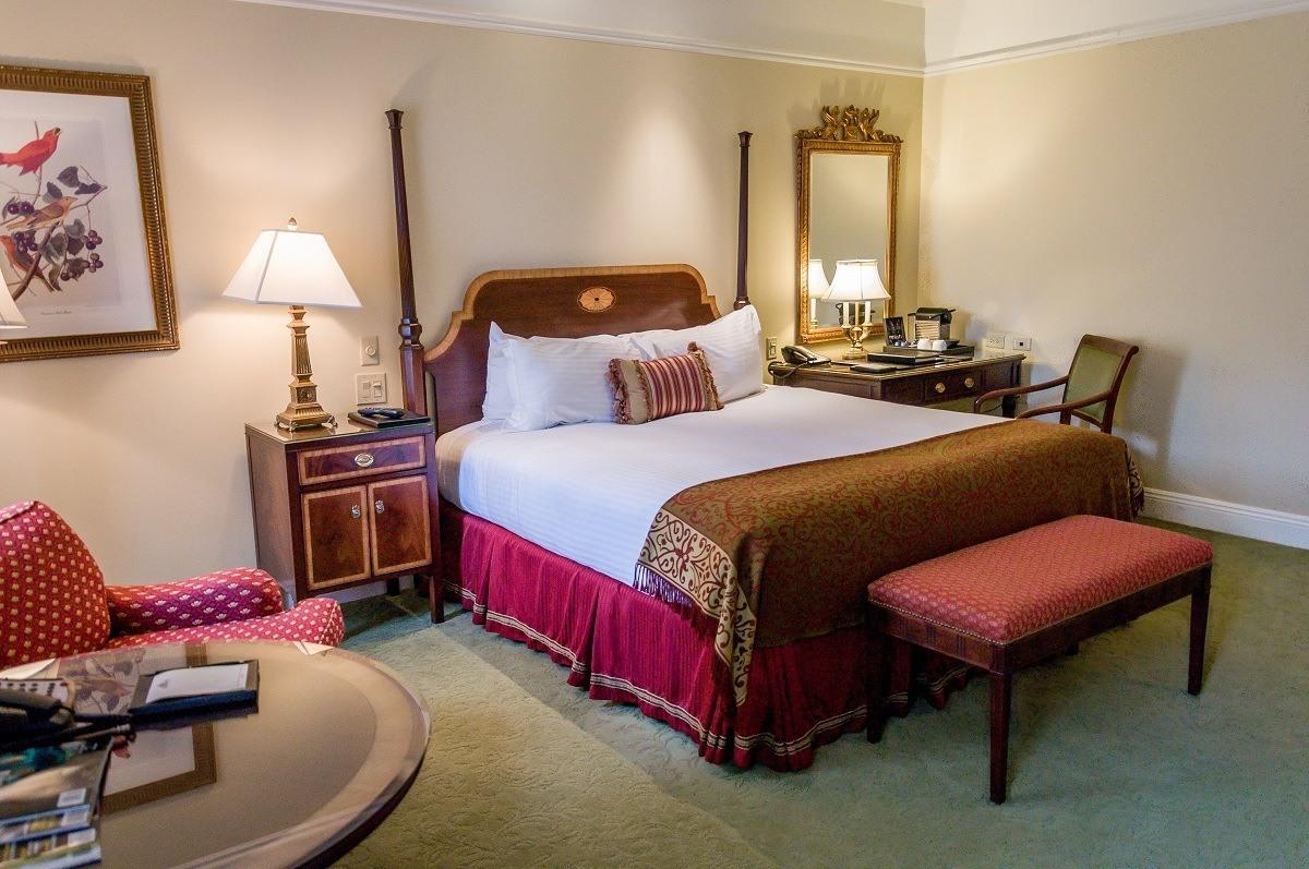 Bedroom at Nashville's Hermitage Hotel.